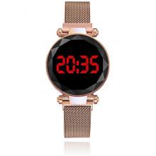 WA100-2 Наручные электронные часы, цвет золотой