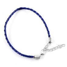 ZB001-04 Заготовка для браслета с замком 20см, иск.кожа, цвет синий