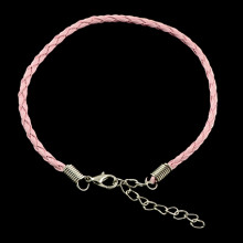 ZB001-08 Заготовка для браслета с замком 20см, иск.кожа, цвет розовый