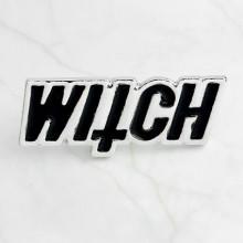 ZN004 Значок Witch (Ведьма), металл, эмаль 32х13мм