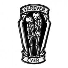 ZN018 Значок Forever Ever, металл, эмаль 35х20мм