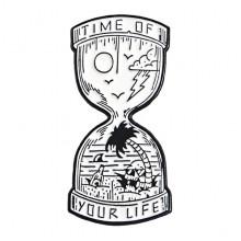 ZN060 Значок Время жизни, 15х30мм