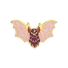 ZN083-2 Значок Летучая мышь, 20х30мм, цвет розовый