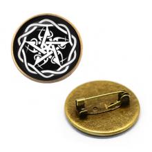 ZNA015 Значок Пентаграмма, d.27мм, цвет бронз.