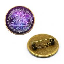 ZNA107 Значок Всевидящее око, d.27мм, цвет бронз.