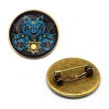 ZNA111 Значок Кошки, d.27мм, цвет бронз.