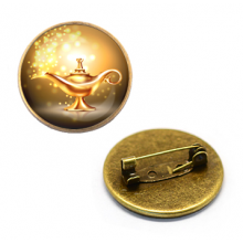 ZNA115 Значок Лампа Аладдина, d.27мм, цвет бронз.
