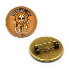 ZNA119 Значок Death Catcher, d.27мм, цвет бронз.