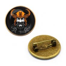 ZNA133 Значок Викинг, d.27мм, цвет бронз.