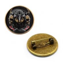 ZNA141 Значок Викинг, d.27мм, цвет бронз.